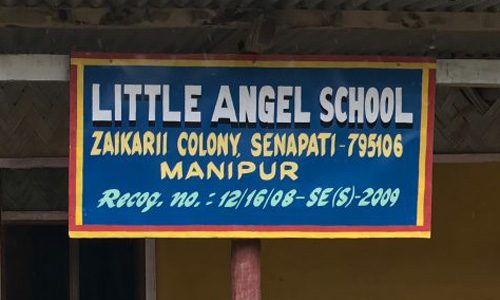 Sign little angel school